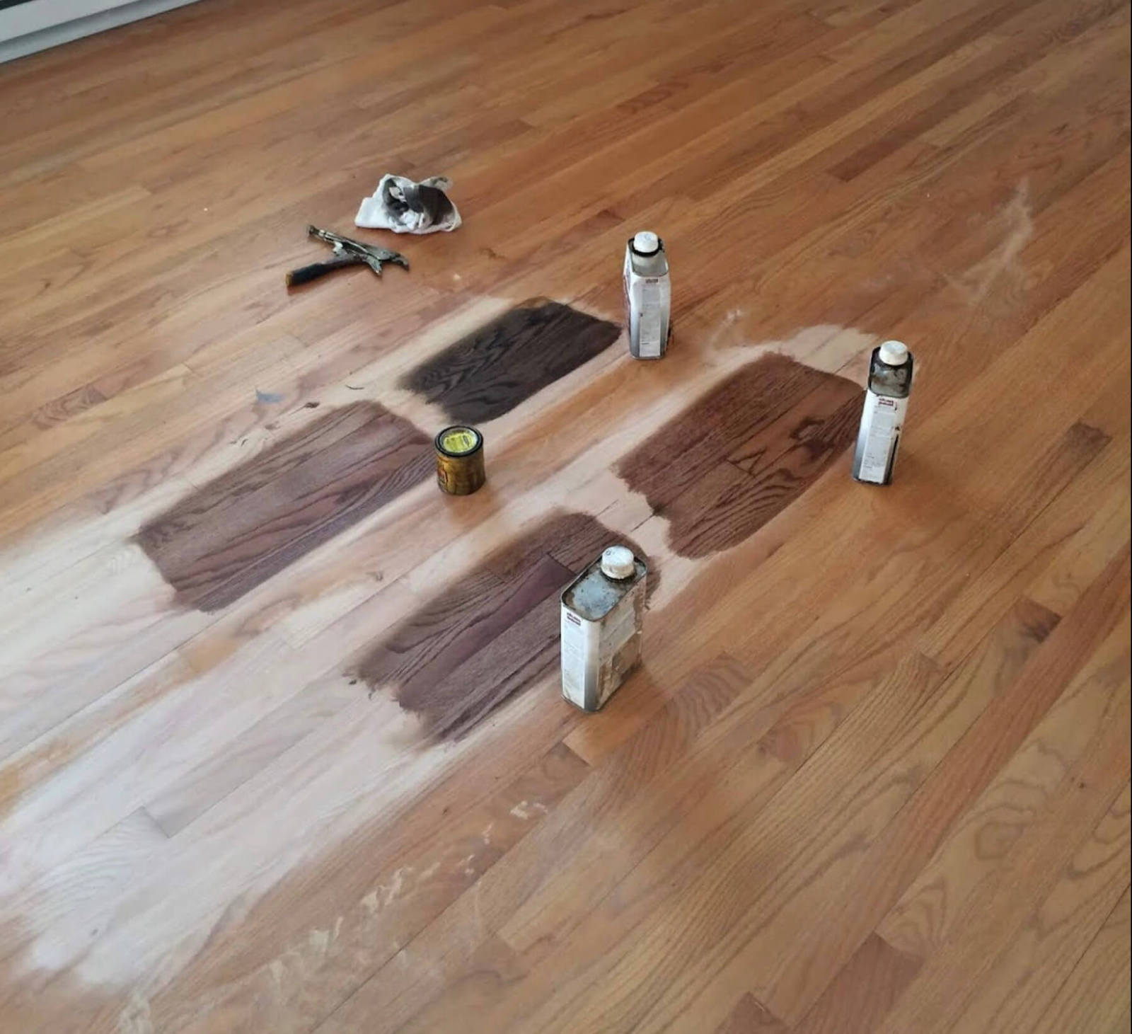 hardwood staining options in the Houston area